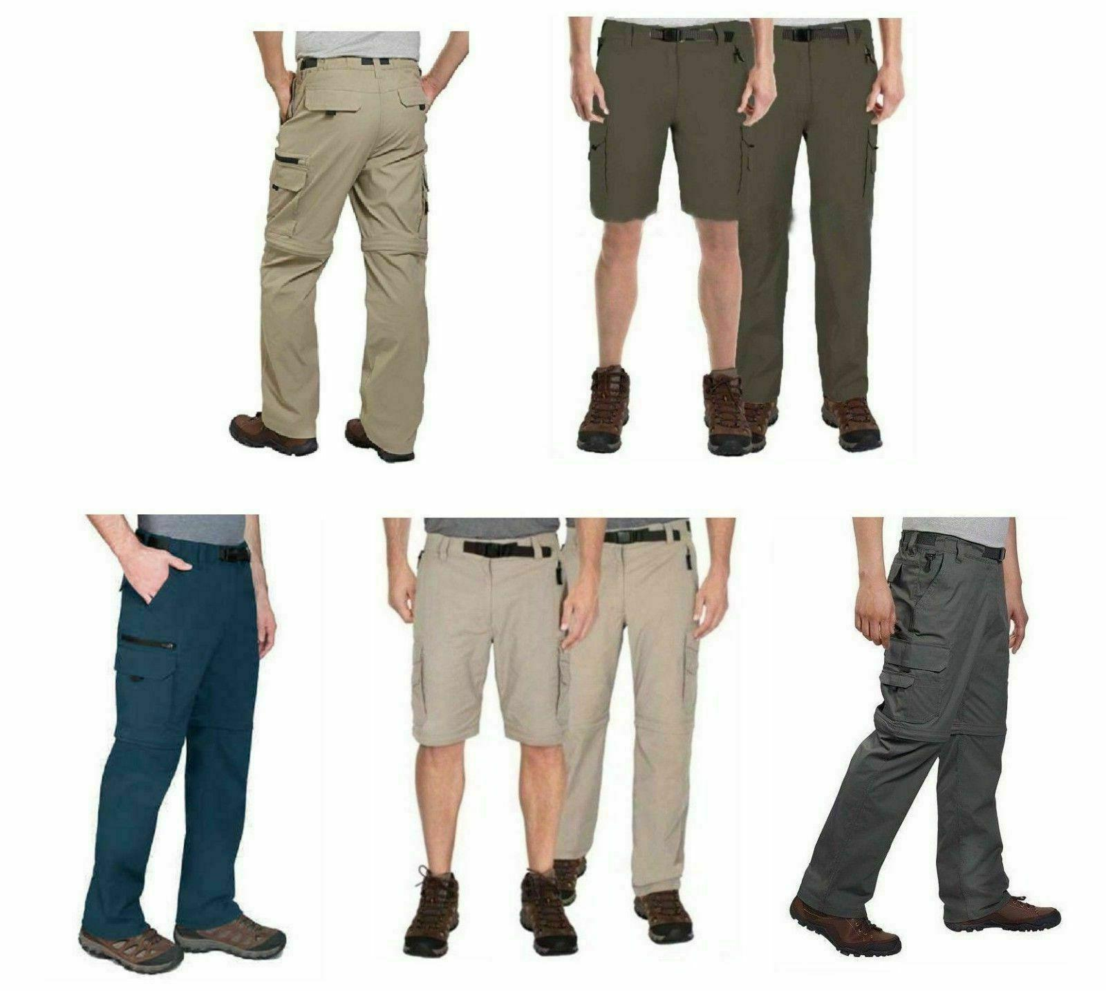 BC Clothing Men's Convertible Stretch Cargo Hiking Pants Poc