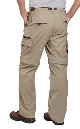 NWT! BC Clothing Men's Convertible Stretch Cargo Hiking Pant