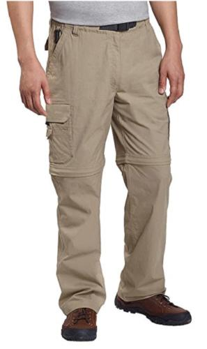 New! BC Clothing Mens Convertible Stretch Cargo Hiking Activ