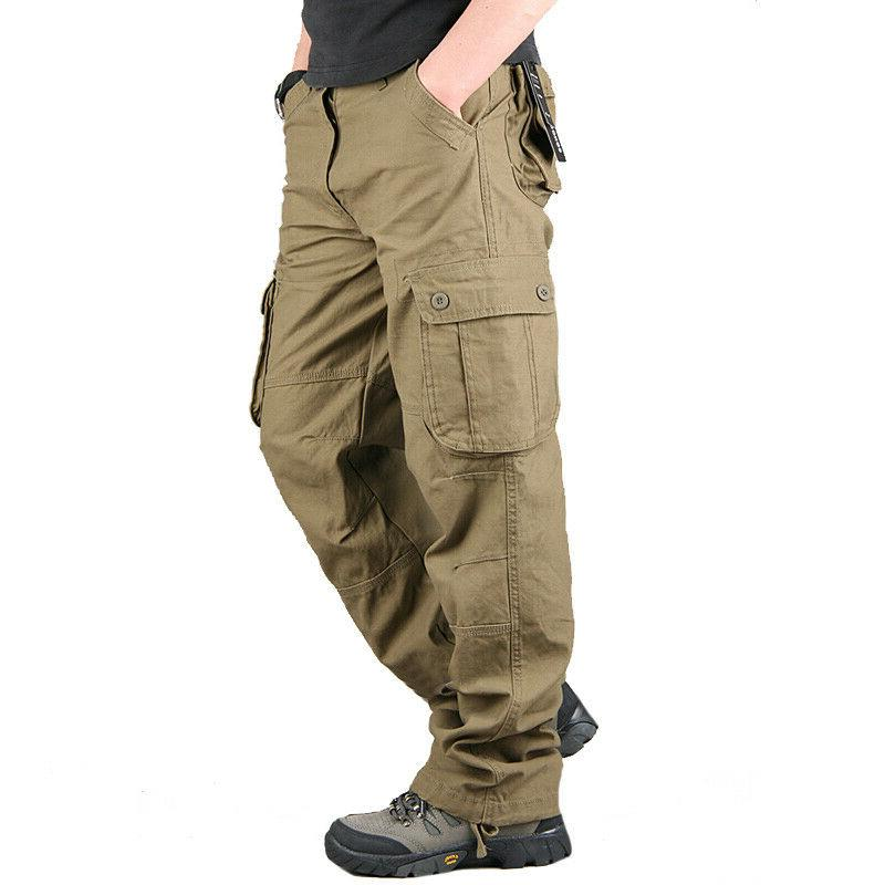 Mens Combat Army Casual Outdoor Trousers