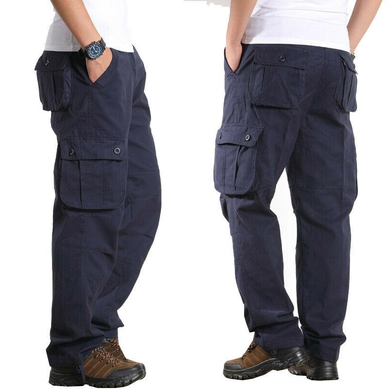 Mens Combat Military Casual Trousers