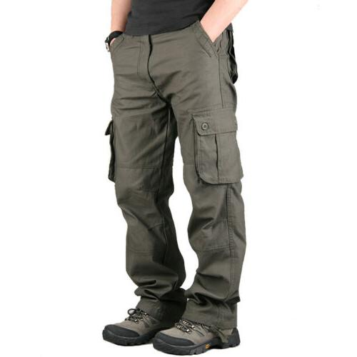 Men's Cotton Casual Army Work Pants With Relaxed