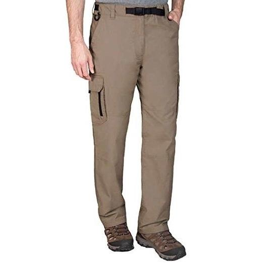 BC Clothing Men's Cotton Lined Adjustable Belted Cargo Pants