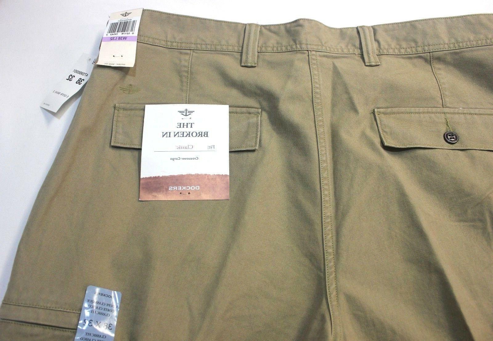 Dockers Crossover D3 British Khaki Flat-Front Cargo Pants