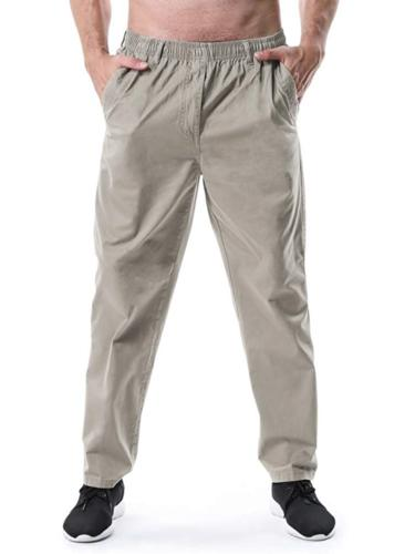 Men's Elastic Waist Loose Fit Workwear Pull On Cargo Pants K