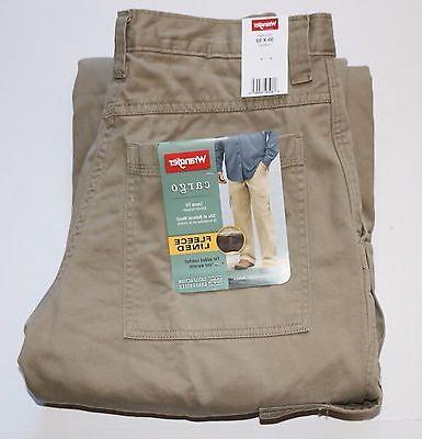 Wrangler Men's Fleece Lined Winter Cargo Pants All Men's Siz