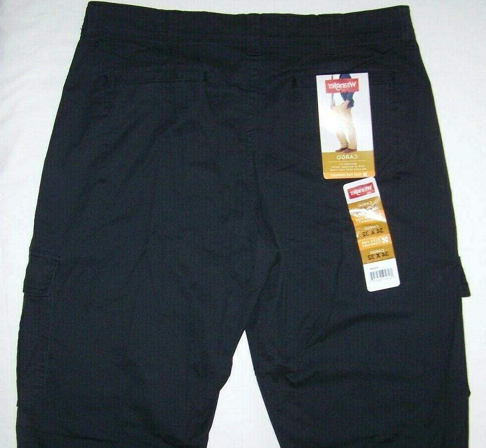 Men's Pants Black Flat Front Cotton 34-52