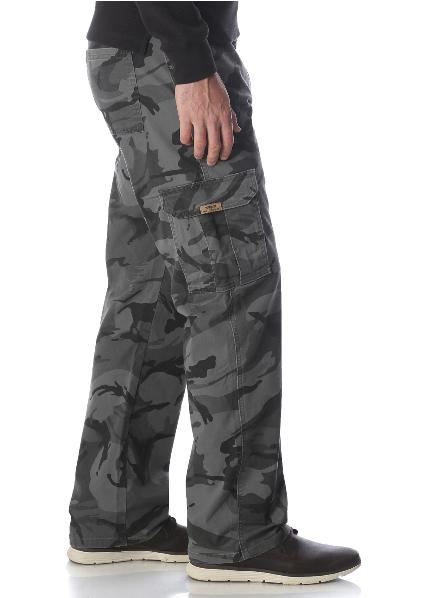Mens Wrangler Flex Cargo Pants Tech Pocket 34 46