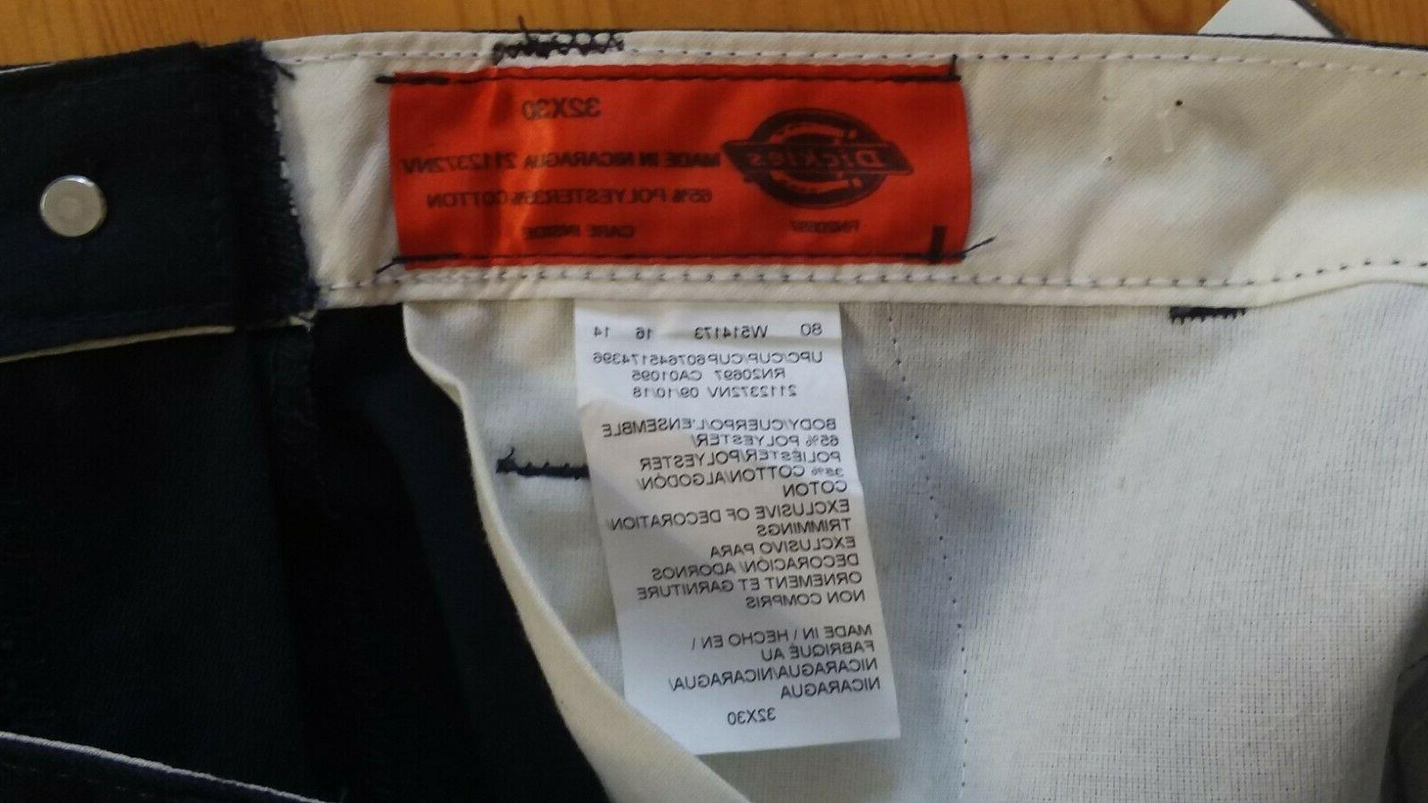 Dickies Men's Pants Relaxed Fit Straight Navy 32x30