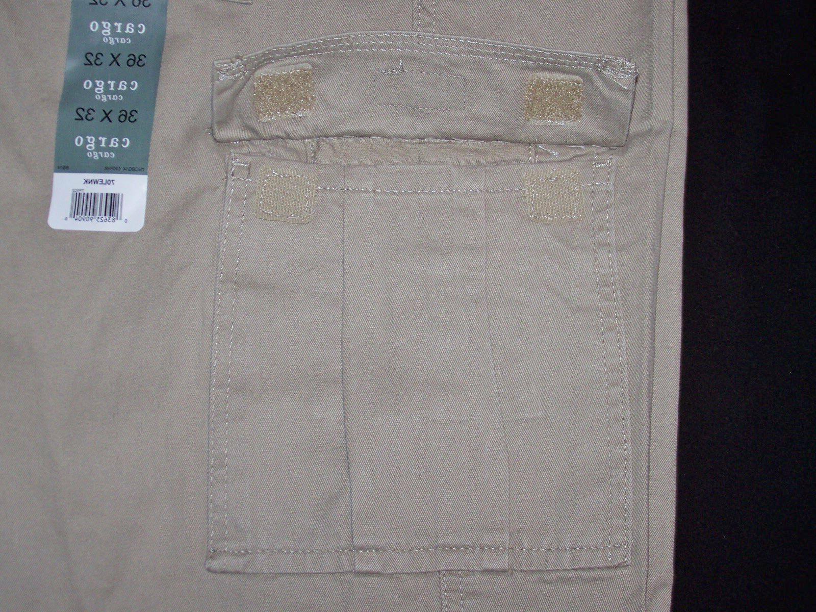 Men's Wrangler BIG Khaki Cargo Pants Fit Tech 44, 46,