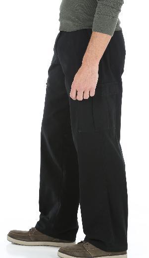 Men's Wrangler Pants Black Tech Pocket ALL SIZES