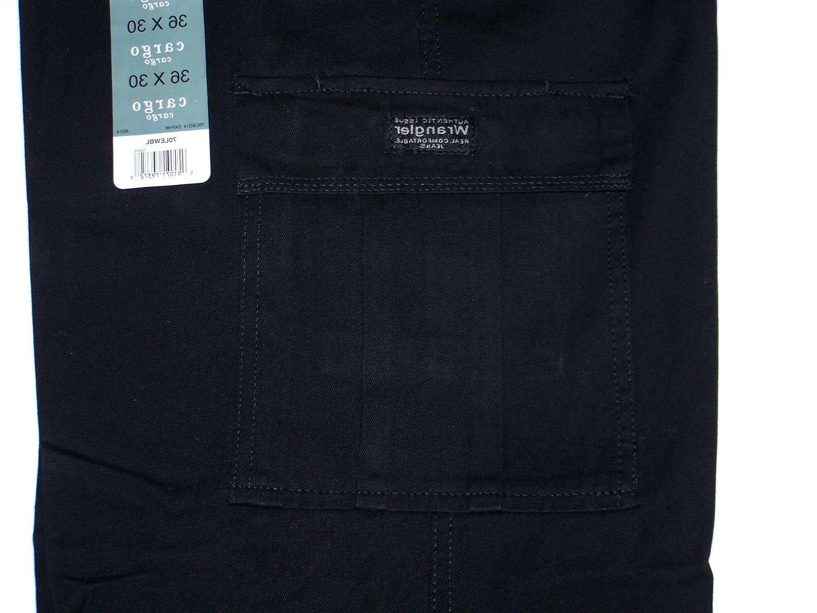 Men's Pants Black Relaxed Tech Pocket 34-50