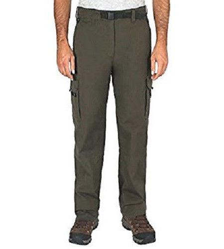 BC Clothing Men's Lined Adjustable Belted Cargo Pant Olive M