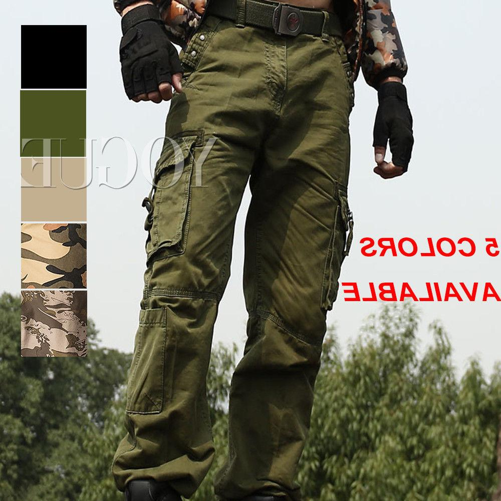 Men's Military Army Camo Cargo Pants Camouflage Overall Tact