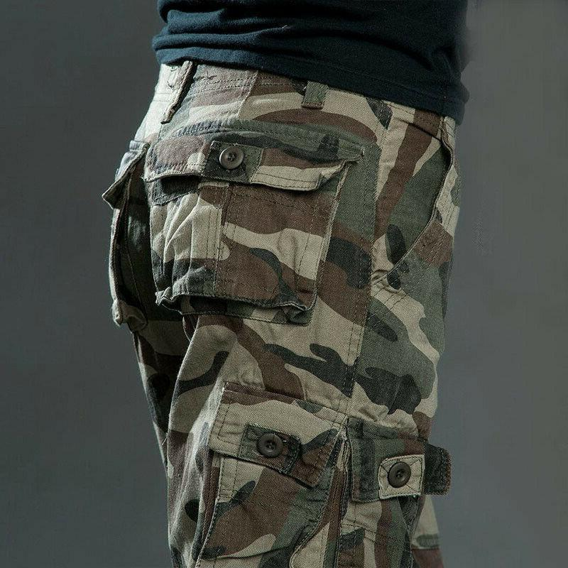 Men's Cotton Cargo Pants Army Trousers