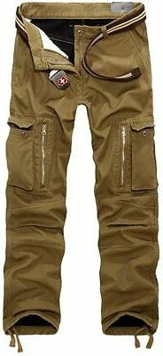 OCHENTA Men's Outdoor Fleece Lined Casual Military Work Carg