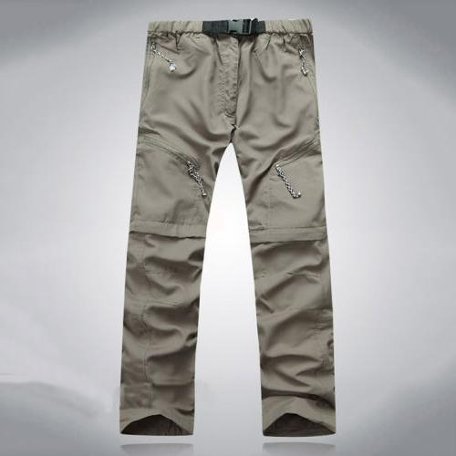 Men's Quick Dry Detachable Long Pants Sports Outdoor Hiking