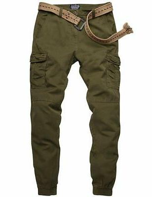 Match Men's Fit Chino Jogger (36W x 33L, Green, Size 36