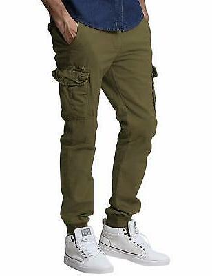 Match Men's Regular Fit Chino Cargo (36W x 33L, 6539, Green, Size