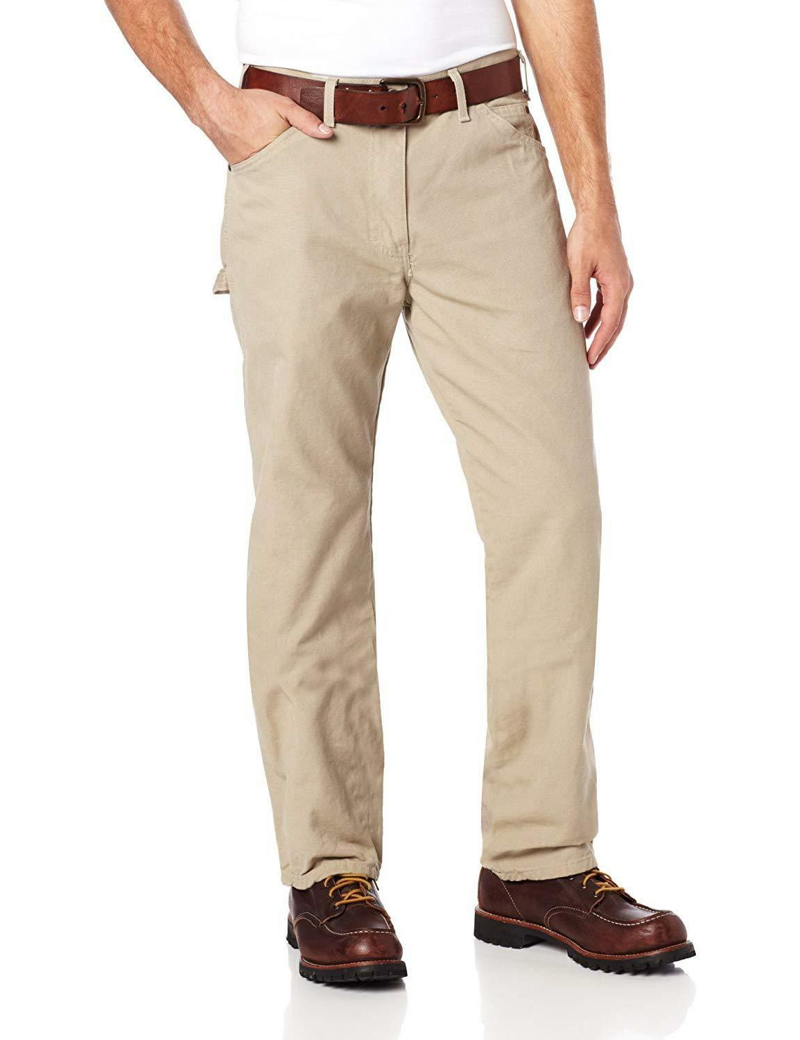 Dickies Men's Straight-Leg Duck Carpenter With Pockets