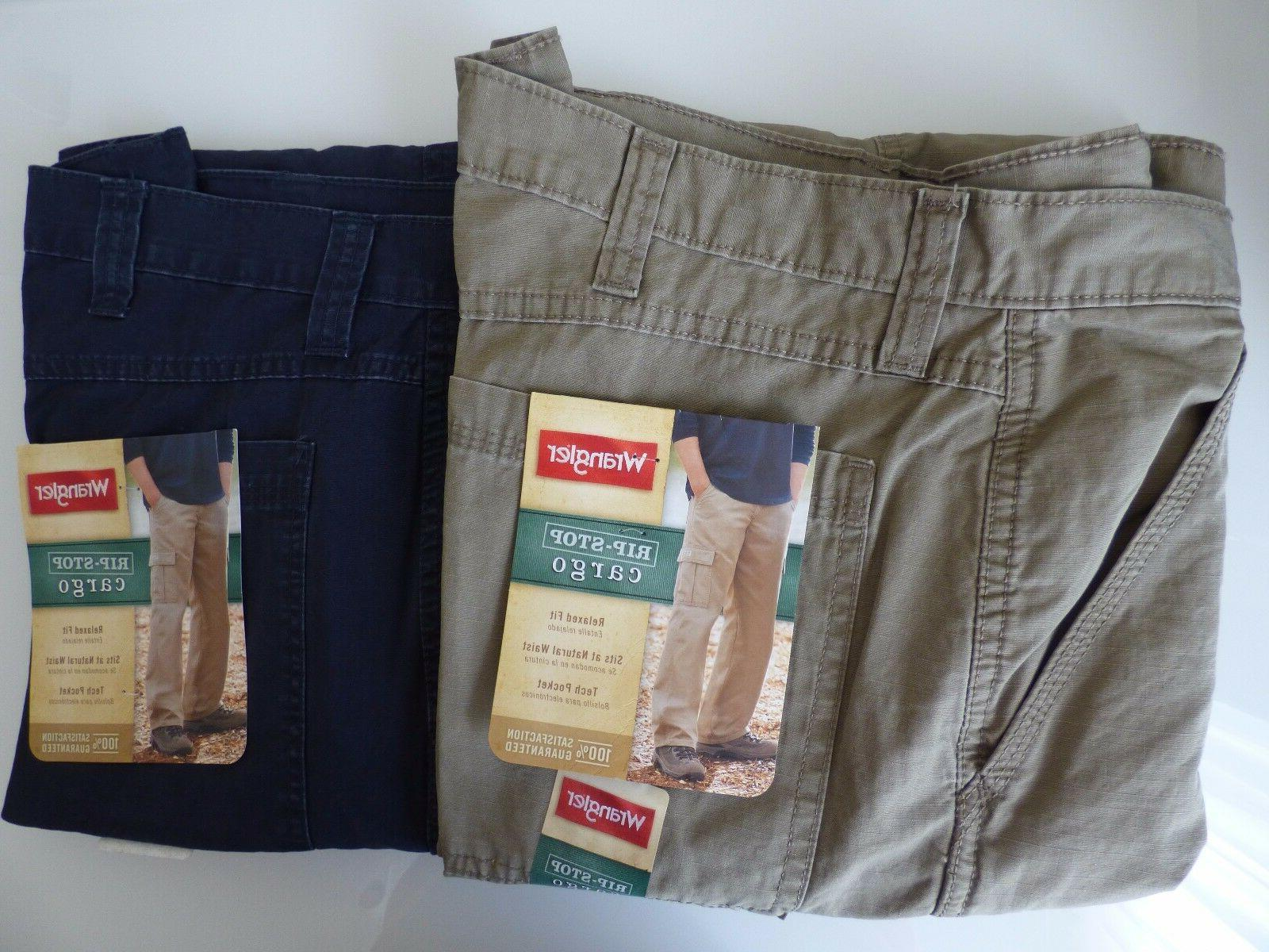 Wrangler Men's Rip-Stop Pant Relaxed Fit Size