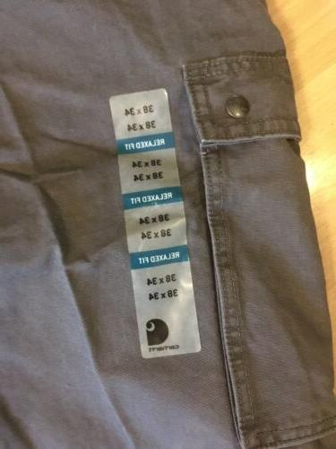 Carhartt Pants X 34 Gray NWT Relaxed Fit