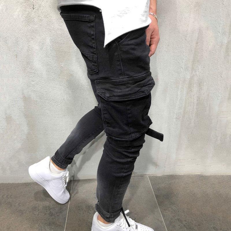 Men's Jeans Pants Denim Pants Biker