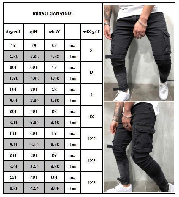 Men's Skinny Jeans Biker Trousers