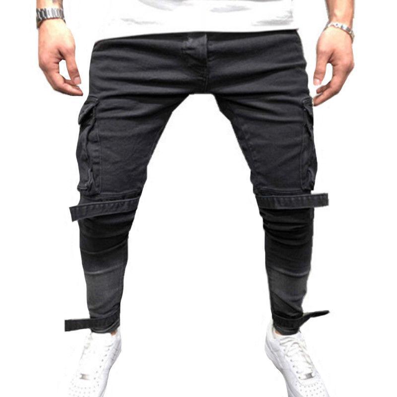 Men's Skinny Jeans Biker Jogger Trousers