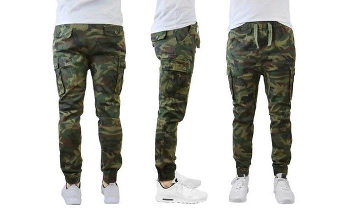 Men's Slim Cotton Cargo Jogger Pants