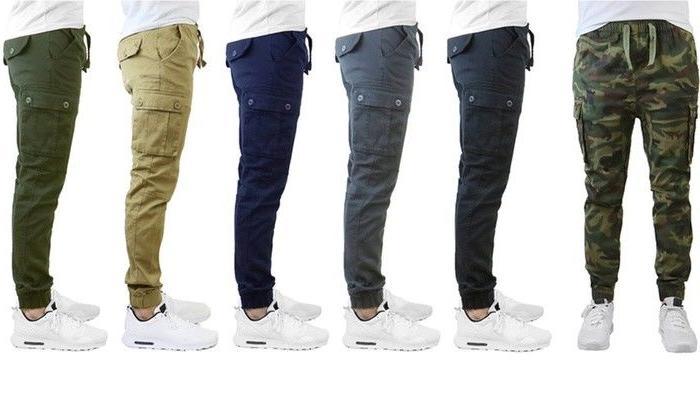 men s slim fit stretch cotton cargo