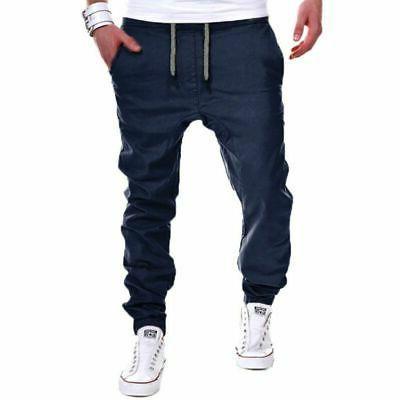 Men's Slim Straight Trousers Casual Pencil Jogger