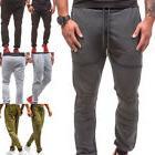 Men's Slim Fit Urban Straight Leg Trousers Casual Pencil Jog