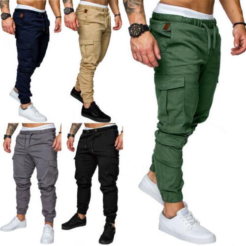 Men's Pocket Urban Straight Leg Trousers Pencil