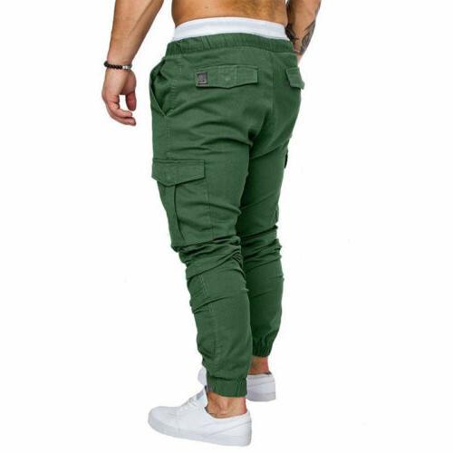 Men's Slim Straight Trousers Pencil Jogger