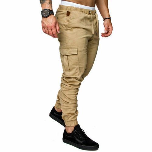 Men's Straight Leg Trousers Casual Pencil Cargo