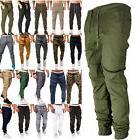 Men's Sport Pants Long Trousers Tracksuit Cargo Combat Jogge