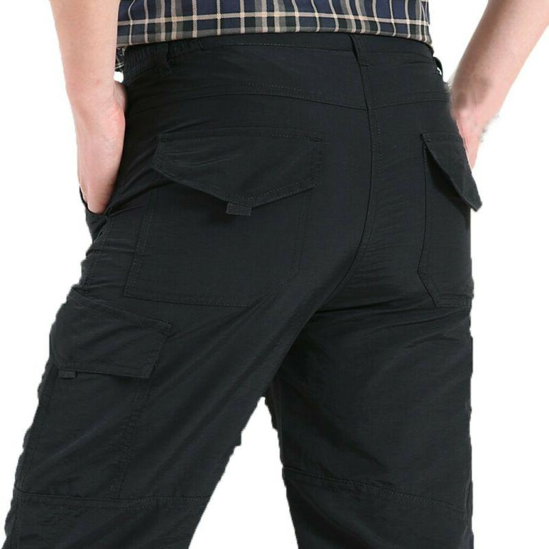 Men Tactical Work Cargo Pants with Pockets Loose Trousers US