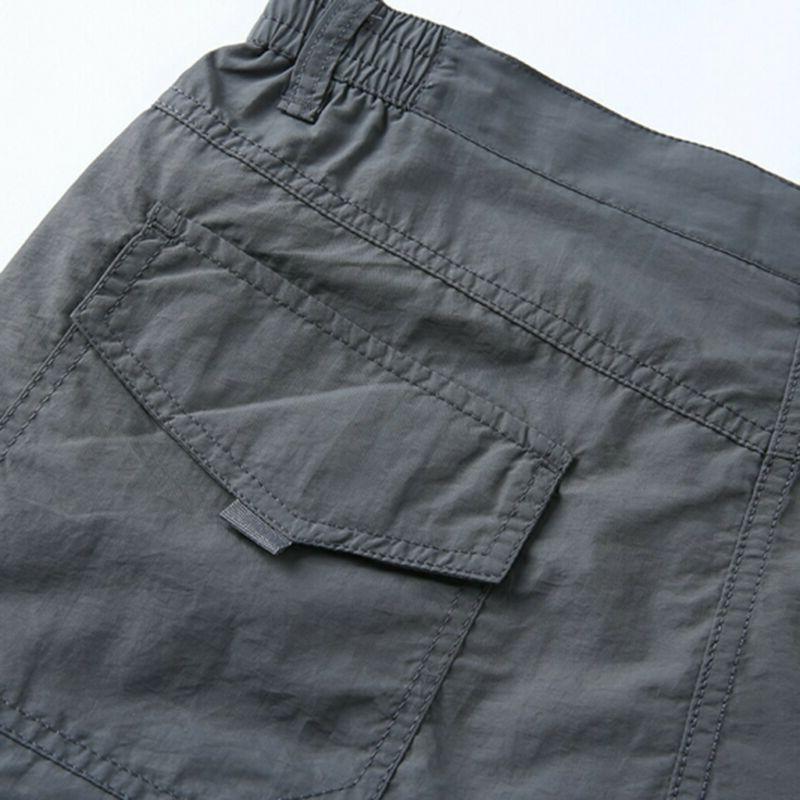 Men Waterproof Cargo Long Pockets Loose