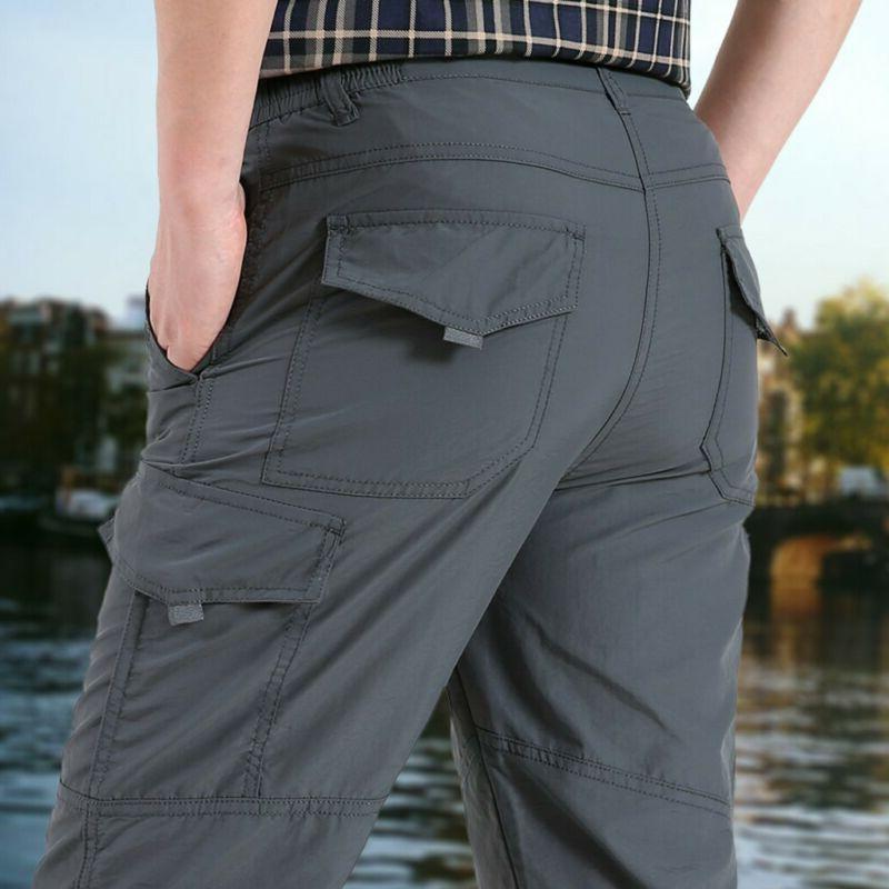 Men Waterproof Cargo Pants with Pockets