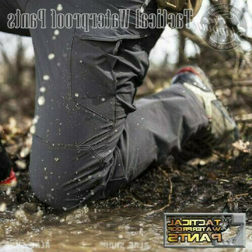 men tactical waterproof work cargo long pants