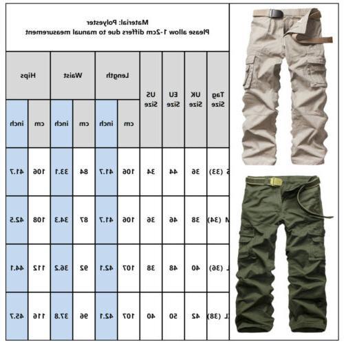 Men's Waterproof Cargo Pockets Loose Trousers