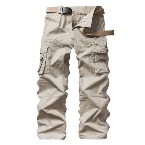 Men's Work Cargo Long Pockets Loose Trousers
