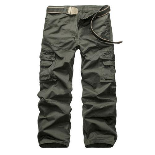 Men's Tactical Waterproof Work Cargo Long Pockets Loose
