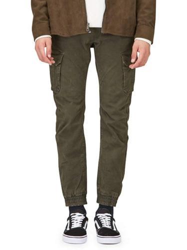 OCHENTA Men's Tapred Leg Jogger Pants, Stretch Twill Cargo P