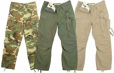 Men's Vintage M-65 Korean War Replica Cargo Field Pants - OD