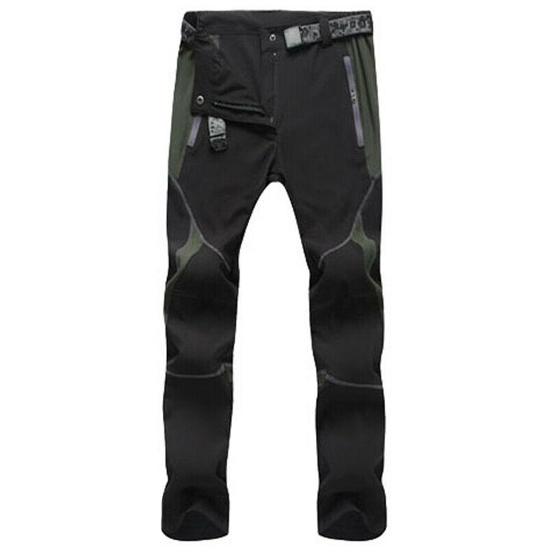 Men's Waterproof Cargo Pants Outdoor Hiking Climbing Trousers Quick Dry