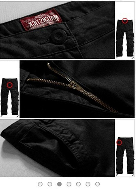Match Men's Cargo Pants BLACK