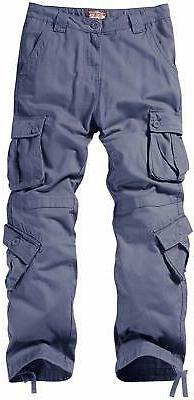 Match Men's Cargo Pants #3357, Bluish Size 40