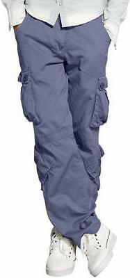 Match Men's Wild Cargo Pants #3357, Bluish Gray, Size 40